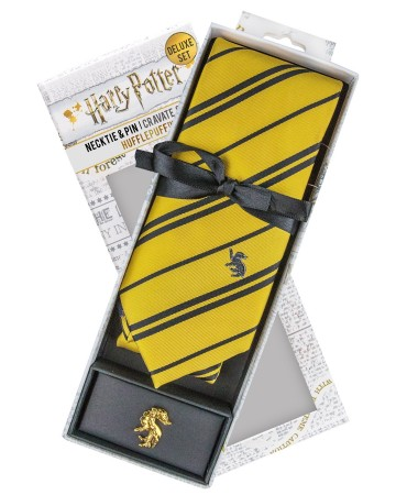 Harry Potter - cravate + pins Hufflepuff