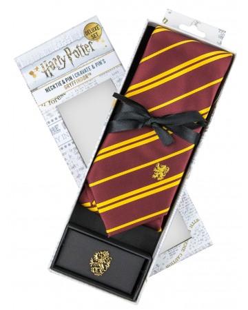 Harry Potter - cravate + pins Gryffindor