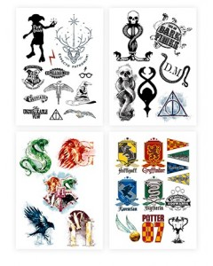 Harry Potter - Set de 35 tatouages temporaires