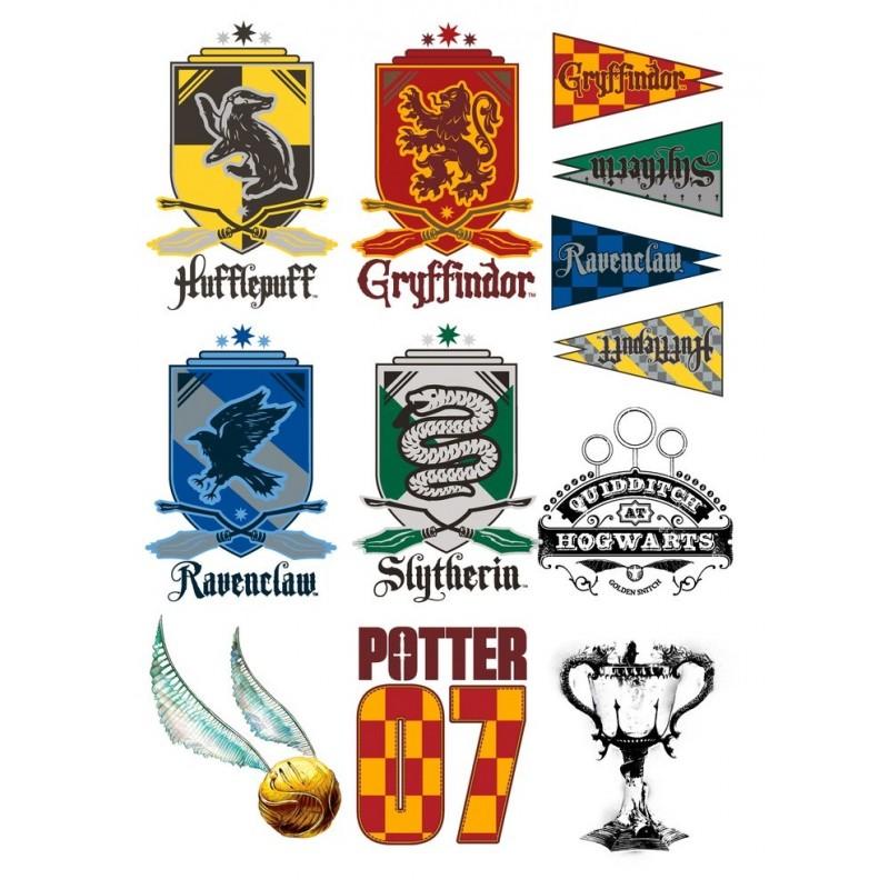Harry Potter Set De 35 Tatouages Temporaires Imagin Eres