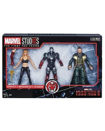 Marvel Legends - MCU 10th Anniversary - Iron Man 3 : Pepper Potts, Iron Man & Mandarin