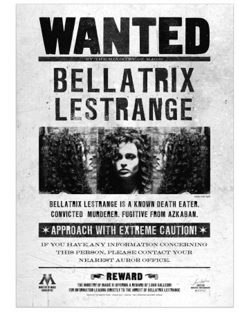 Harry Potter - Poster Wanted Bellatrix Lestrange