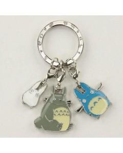 Mon Voisin Totoro - Porte-clé métal 3 Totoros