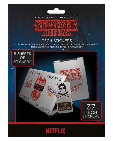 Stranger Things - Set de 37 tech stickers
