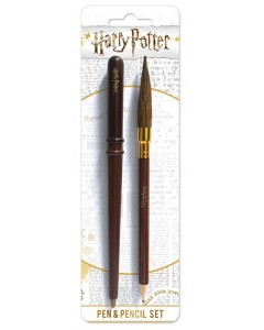 Harry Potter - Set stylo baguette et crayon Nimbus 2000