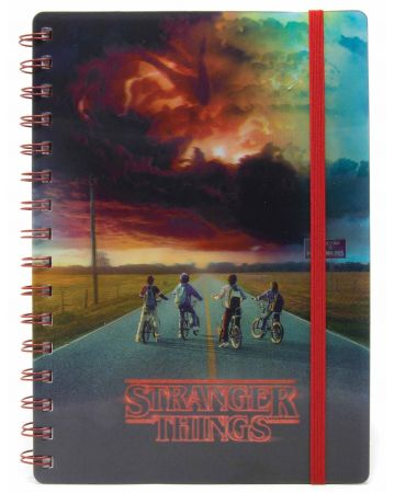 Stranger Things - Carnet spirales A5 lenticulaire Mind Flayer