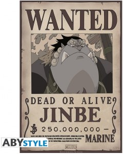 One Piece - poster Wanted Jinbe