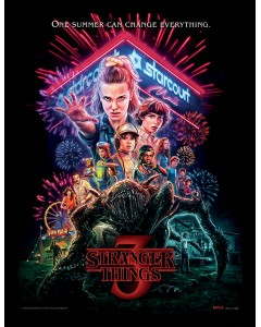 Stranger Things - Poster encadré Season 3