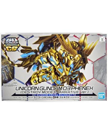 Gundam - SD Cross Silhouette Unicorn Gundam 03 Phenex (Destroy Mode) (Narrative Ver.)