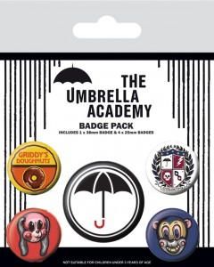 The Umbrella Academy - set de 5 badges