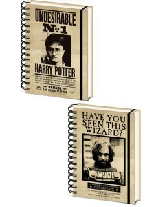 Harry Potter - Carnet spirales A5 couverture lenticulaire Harry & Sirius
