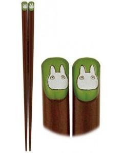 Mon Voisin Totoro - Baguettes Totoro blanc (cercle vert)