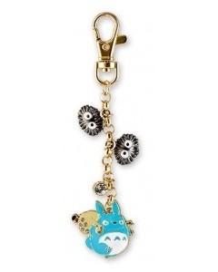 Mon Voisin Totoro - Porte-clé strap métal Totoro bleu et noiraudes