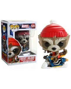 Marvel - Pop! - Holiday Rocket Raccoon n°531