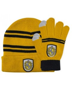 Harry Potter - Bonnet + gants Hufflepuff (enfant)