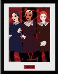 Sabrina - Poster encadré Weird Sisters 30 x 40 cm