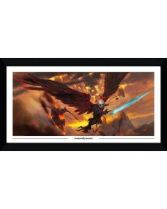 Dungeons & Dragons - Grand poster encadré 50 x 100 cm - Descent into Avernus