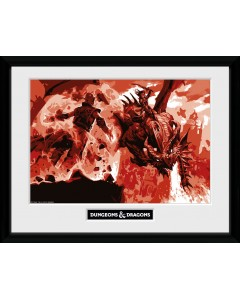 Dungeons & Dragons - Poster encadré Red Dragon 30 x 40 cm