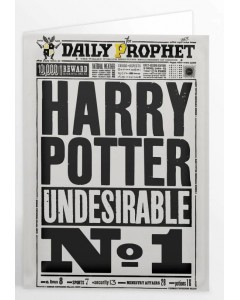 Harry Potter - Carte de voeux Undesirable n°1