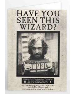 Harry Potter - Carte de voeux lenticulaire Sirius Black