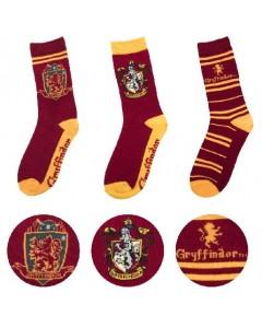 Harry Potter - 3 paires de chaussettes Gryffindor 37/46