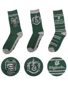 Harry Potter - 3 paires de chaussettes Slytherin 37/46