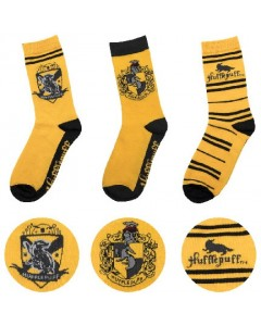 Harry Potter - 3 paires de chaussettes Hufflepuff 37/46