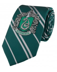 Harry Potter - cravate écusson tissé Slytherin