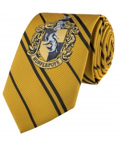 Harry Potter - cravate écusson tissé Hufflepuff