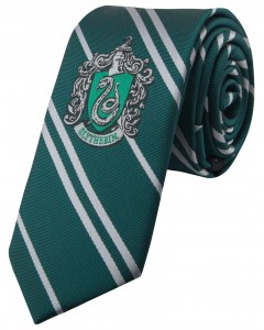 Harry Potter - cravate Enfant écusson tissé Slytherin