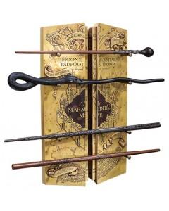 Harry Potter - présentoir et 4 baguettes Marauder's Map