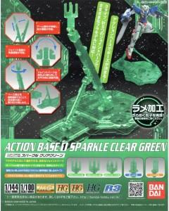 Gundam - Action Base 1 Sparkle Clear Green