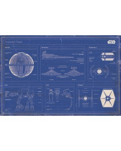 Star Wars - grand poster Imperial Fleet Blueprint (61 x 91,5 cm)