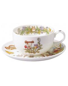 Mon voisin Totoro - Tasse porcelaine + sous-tasse Mei Pissenlits