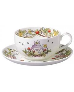 Mon voisin Totoro - Tasse porcelaine + sous-tasse Totoro Fraise