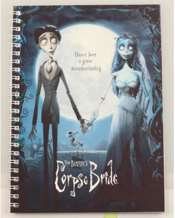 Corpse Bride (Les Noces Funèbres) - Carnet A5 spirales Movie Poster