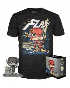 DC Comics - Pop! & Tee - Set figurine Pop! + T-Shirt The Flash Jim Lee
