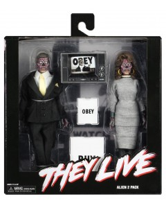 They Live (Invasion Los Angelas) - Figurines 2-Pack Retro Clothed Aliens