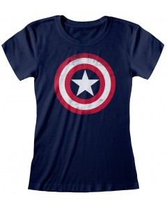 Marvel - T-Shirt Captain America Shield - Femme