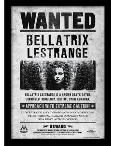 Harry Potter - poster encadré Bellatrix Lestrange Wanted