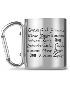 Lord of the Rings - Mug métal carabiner Fellowship