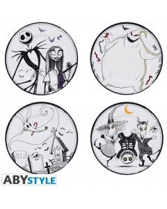 Nightmare Before Christmas - Set de 4 assiettes