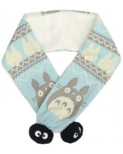 Mon Voisin Totoro - écharpe à pompons Noiraudes