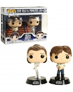 Star Wars - Pop! - 2-Pack Han Solo & Princess Leia