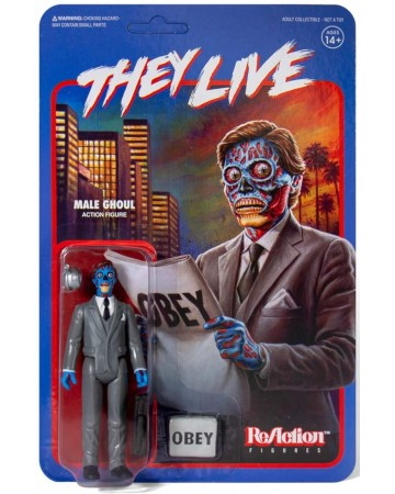 They Live (Invasion Los Angelas) - Reaction Figure - Male Ghoul 10 cm