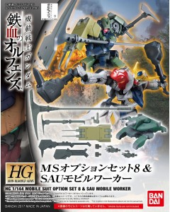 Gundam - HGIBO 1/144 MS Option Set 8 & SAU Mobile Worker