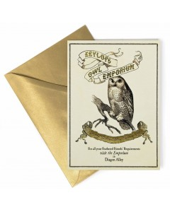 Harry Potter - Carte de voeux métallisée Eeylops Owl Emporium