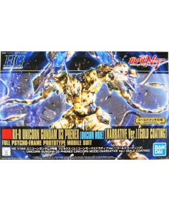 Gundam - HGUC 1/144 Unicorn 03 Phenex (Unicorn Mode Narrative Ver. Gold Coating)