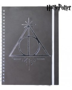 Harry Potter - Carnet A5 spirales Deathly Hallows