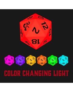 Dungeons & Dragons - Lampe d'ambiance USB change de couleur dé D20
